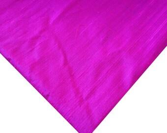 Magenta and Purple Raw Silk Dupioni - Pure Silk Dupioni - Raw Mulberry Silk - Magenta / Purple -Two Tone - Indian Dupioni Silk -Dupioni Silk