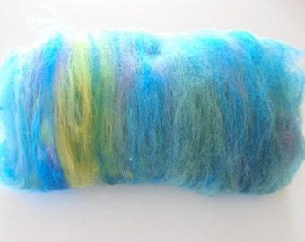 UNDER THE SEA 3.0 - Soft Art Batts, Textured Spinning Batts, Art Batts to Spin, Art Batts to Felt, Merino Batt, Alpaca Batt, Spinning Fiber