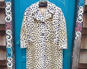 Vintage Faux Leopard Swing Coat from Gimbel Brothers