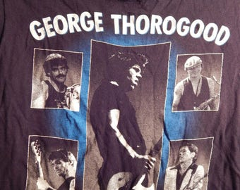 Vintage Tee George Thorogood Destroyers 1986 Concert Tee Shirt