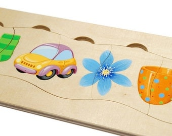 Baby's first wooden puzzle - handmade wooden toy for toddlers