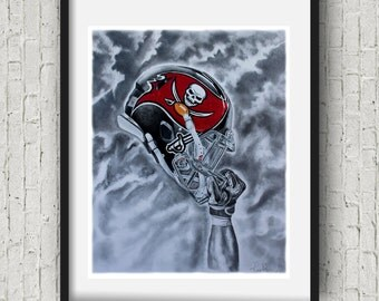 Tampa bay buccaneers Wall Art sports decor football