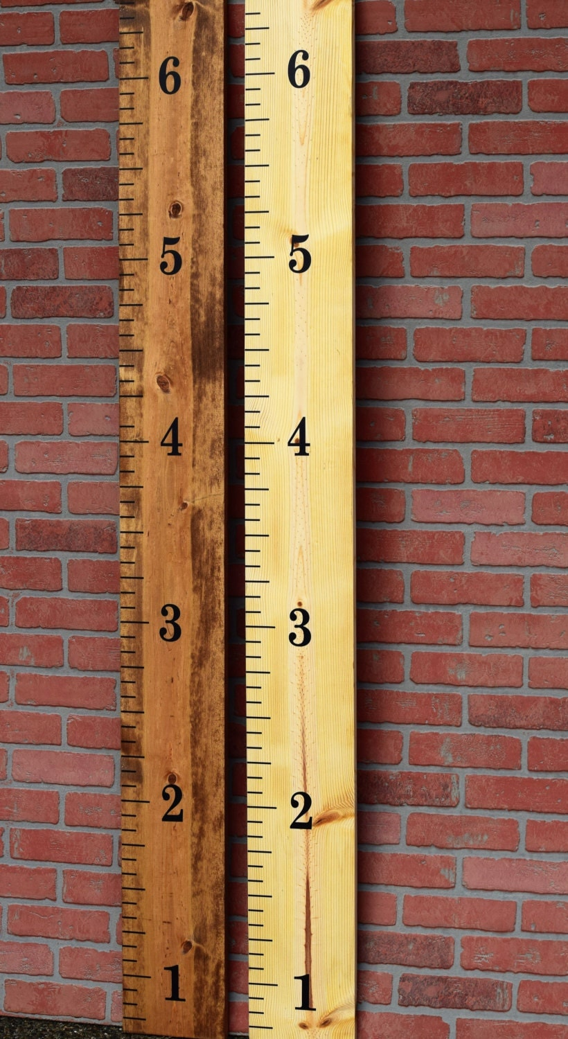 DIY Ruler Growth Chart Vinyl Decal Complete Kit Instructions - Custom vinyl decal application tools