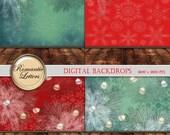 SALE-50% Christmas Digital Backdrop for Newborn Baby Photography Digital Christmas digital backdrop prop digital scrapbook background paper