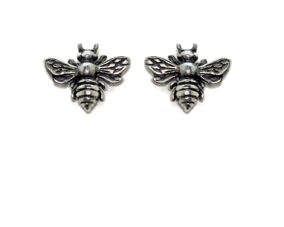 Tiny Bee Earrings. Bumble Bee posts. Honey Bee Earrings. Gold or Silver Bee Earrings. E-2207