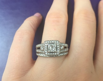 1.10 carat Diamond Wedding set. Engagement ring. Offering flexible layaway.