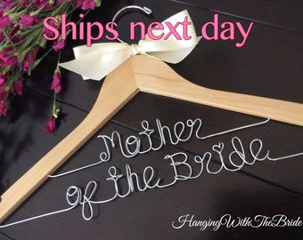 RUSH ORDER, ship next business day of the bride hanger, Bridal gift, Mother's day gift, custom wire hanger, bridal hanger, bridesmaids gift