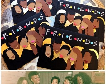 Friendship Cards-  Custom card for 1 to 5 friends with the Friends the tv show theme