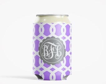 Personalized Can Insulator, DIY Custom Bottle Insulated Beverage Container, Lily Trellis