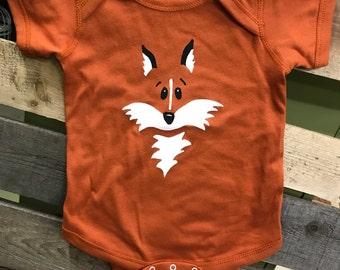 Chambre de bébé grenouillère Fox, Fox chemise, nourrisson une seule pièce, T-shirt Fox, Fox