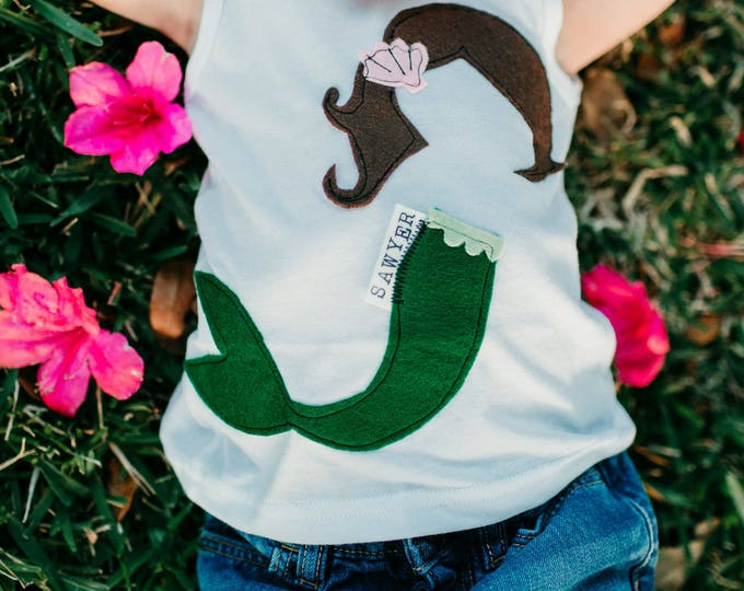 "Swanky Shank ""Mer-Made In Heaven"" Mermaid Tank or Tee"