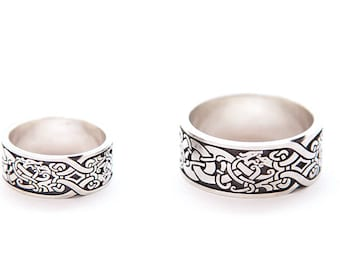 Scandinavian silver ring | Ornamental ring