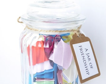 A Jar of Friendship - The Perfect Gift For A Special Friend - Handmade Quote Message Jar Gift