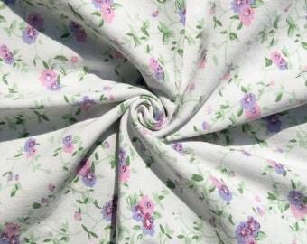 Vintage 1960s 1970s Purple Floral Pillowcase, Purple Pink Green Floral Large Pillowcase, Vintage Bed Pillowcase