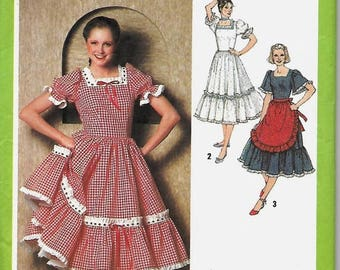 Lace up bodice dress pattern