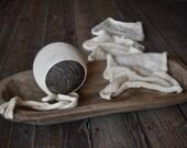 Natural Merino Bonnet + Wrap Set
