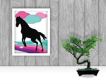 Horse Digital Art Print
