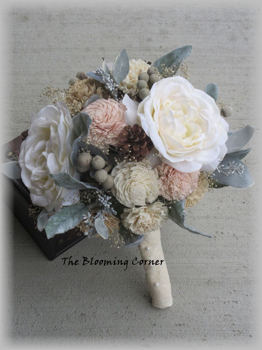 wooden flowers wedding bouquets wedding bouquet sola wood bouquet blush bridal bouquet 1486