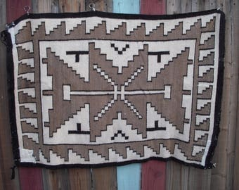 Two Grey Hills Navajo 1940's rug