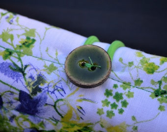 Lavender and Lime  Floral Pen Roll