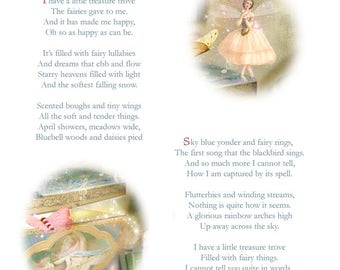 Fairy Treasures Poem and print by Charlotte -  - Both signed  By Charlotte Bird