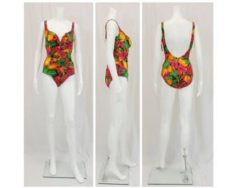 SIRENA Tropical Print One Piece Swimsuit Size 18 XL