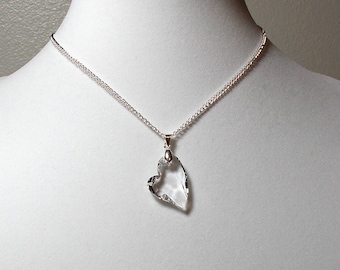 Swarovski Devoted Heart Necklace, Crystal Heart Necklace, Swarovski Crystal Necklace, Wedding Heart Necklace