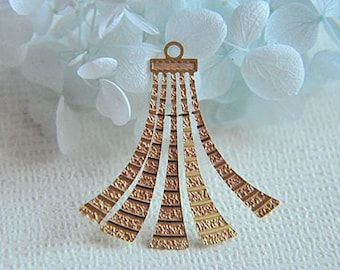 10 pcs raw Brass flower Filigree cab base Connector Finding