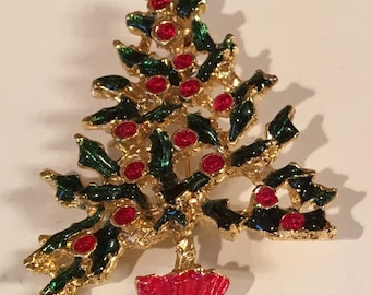 Christmas tree pin.