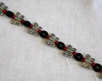 Tatted Butterfly Bracelet