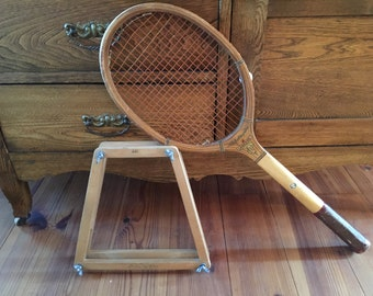 Vintage Tennis Racket, Spalding Brothers, Wood, Lakeside, Rackets, Sporting Goods, Home Decor, Man Cave, Old Sports Equipment, Wall Decor