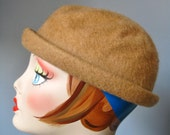 Brown Bowler / Vtg 50s / ...
