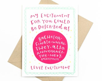 funny congratulations card - bachelor show
