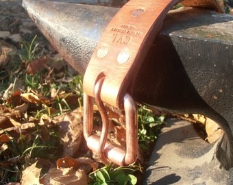"Clintonville Leather 100% USA Made 1 1/2"" Work Belt, Men's Leather Belt, Belt,Full Grain Belt, Harness Leather Belt"