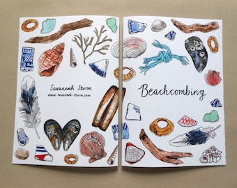 Beachcombing | A5 Art Zine | watercolour illustration