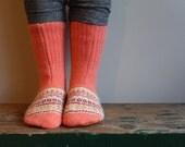 Women's Felted Wool Slippers/ Cabin Socks, Wool Slippers