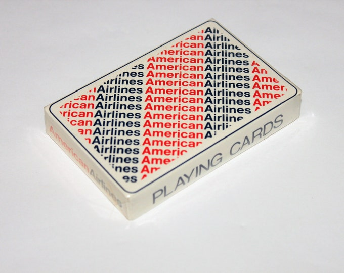 Vintage 1970s Set of Mid-Century Modern Sealed American Airlines Playing Cards