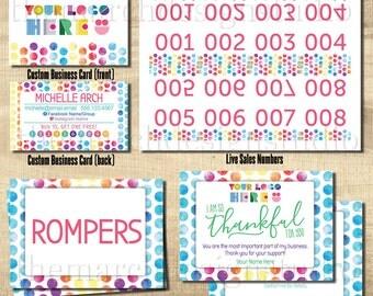 Dot Dot Marketing Kit, DDS Marketing Kit, Dot Smile Marketing, DDS Marketing, Live Sale Numbers, Style Cards, Size Cards, Thank You, Care
