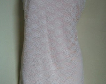 Vintage lace nylon nightie med large
