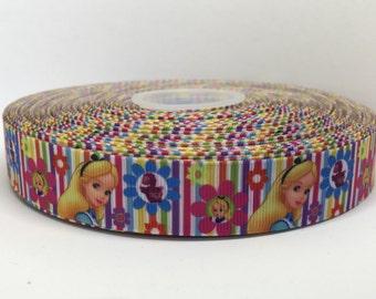 "7/8"" Alice In Wonderland Grosgrain Ribbon"