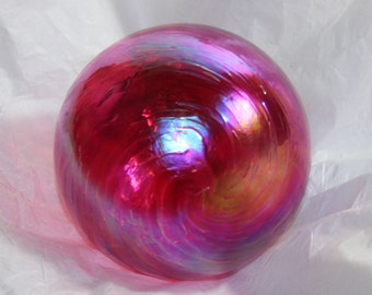 Hand Blown Glass Christmas Ornaments - Ruby Pink