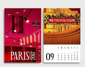 30% OFF SALE: 2017 Paris Calendar - Paris Illustration Desk calendar Wall calendar Art Gift ideas for her Mini Calendar Paris art Home decor