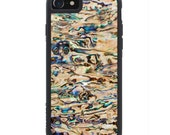 Seaside Collection New Zealand Paua Shell iPhone 7 Real Shell Traveler Bumper Case - Made in the USA - FREE Shipping
