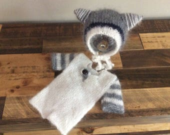 Knited Baby Bonnet,Newborn Photo Prop,Knited Baby set,Romper,Bonnet,Nwborn hat,Baby Hat,Mohair,