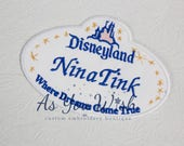custom name tag iron on patch