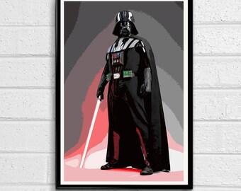 Darth Vader Sith Lord Star Wars illustration 7, Film, Movie, Pop art, Home Decor, Geeky Poster, Nerdy Print #2 Canvas