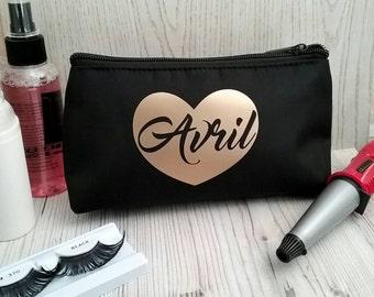 Personalised make up bag, wedding makeup bag, personalised makeup bag, xmas gift, makeup bag, bridesmaid gift, gift for her, bride makeup ba