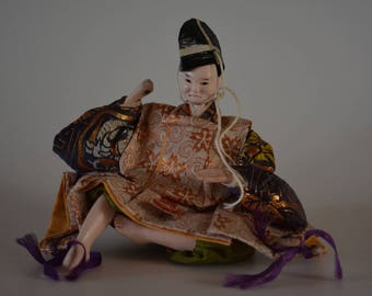 Hina doll, vintage Japanese ningyo, early Showa period #13