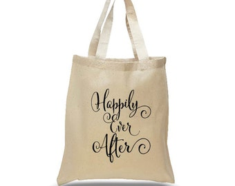 Happily Ever After Canvas Tote Bag