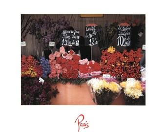 Winston Swift Boyer-Flower Market Paris-1986 Poster